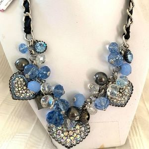 Betsey Johnson Crystal Necklace #18